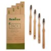Bambaw bambuszfogkefe szett 4 db-os papírdobozban