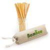 Bambaw bambusz szívószál pohárban