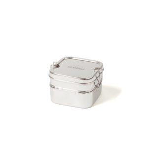 Ecobrotbox Cube Box ételtároló rozsdamentes acélból