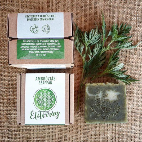 Életviráh hazai pálmaolajmentes szappan ambróziás