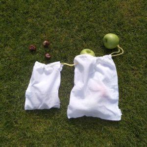 Julka textilszütyő bevásárláshoz kétféle méret összehasonlítása