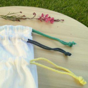 Julka textilszütyő bevásárláshoz M méret behízózsinórjai
