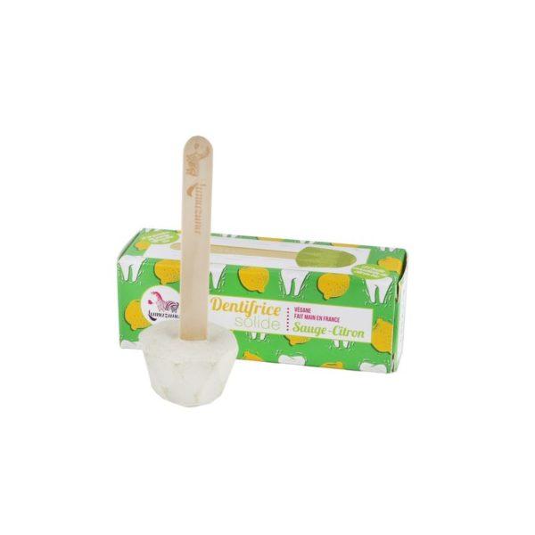 Lamazuna pálcikás fogkrém dobozzal citrom ízű állítva