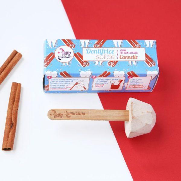 Lamazuna pálcikás fogkrém dobozzal fahéj ízű dobozzal